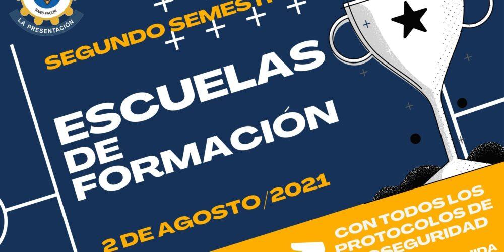 ESCUELAS DE  FORMACIÓN 2021